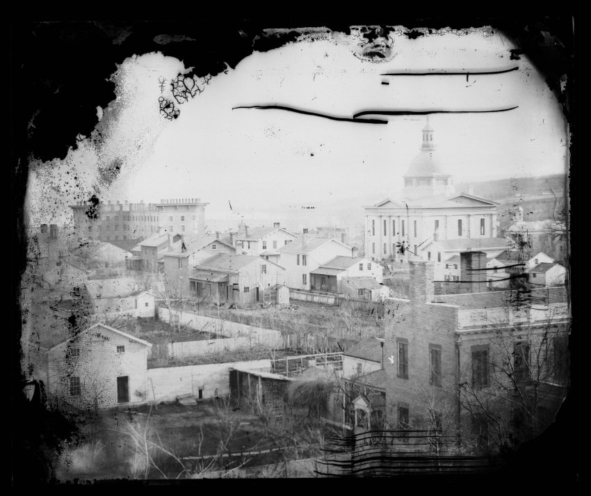 Print from a glass plate negative